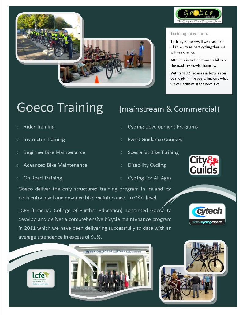 Click to see dedicated cycle training details & courses